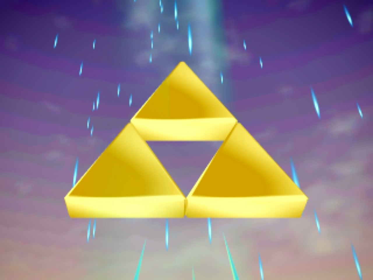 The mighty Triforce represents wisdom, power, and courage.